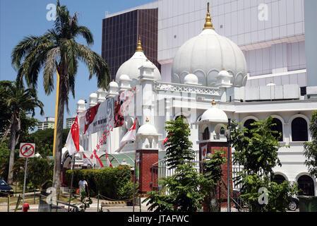 Gurdwara Sahib Silat Road (Silat Road Sikh Temple), Singapore, Southeast Asia, Asia - Stock Photo