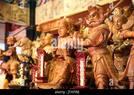 Taoist Pantheon, Yu Huang Gong Temple of Heavenly Jade Emperor, Singapore, Southeast Asia, Asia - Stock Photo