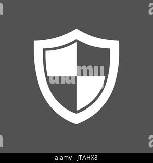 High security shield icon on a dark background - Stock Photo