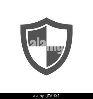 High security shield icon on a white background - Stock Photo