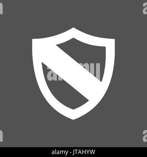 Protection shield icon on a dark background - Stock Photo