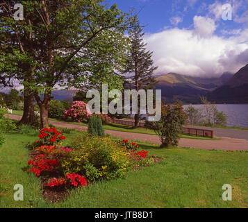 Beautiful spring view from Onich on the north side of Loch Leven looking towards Ballachulish hills, Onich, West - Stock Photo