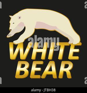 Polar white bear logo vector design - Stock Photo
