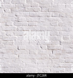 seamless clean white painted brick wall. background, texture. - Stock Photo