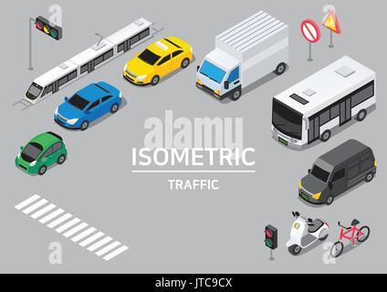 Isometric city - Stock Photo