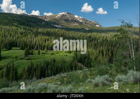 Colorado's Flat Top Mountain, as seen from the Routt