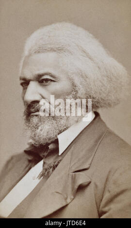 Frederick Douglass (1818-1895) was an African-American escaped slave who became a leading abolitionist, social reformer, - Stock Photo
