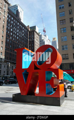 Love Sculpture in New York - USA - Stock Photo