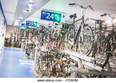 Utrecht Station Bicycle Bike Parking Netherlands Stock Photo