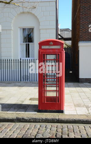 Public call box, red telephone box - Stock Photo