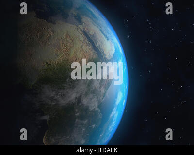 Realistic 3D Earth globe. Elements of this image furnished by NASA - Stock Photo