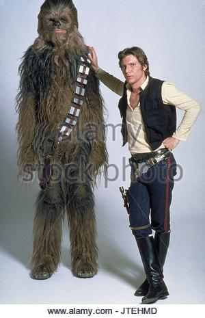 PETER MAYHEW, HARRISON FORD, STAR WARS: EPISODE IV - A NEW HOPE, 1977 - Stock Photo