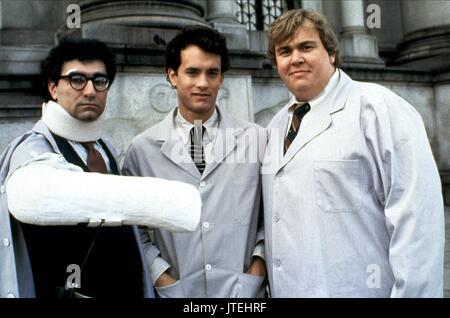 EUGENE LEVY, TOM HANKS, JOHN CANDY, SPLASH, 1984 - Stock Photo