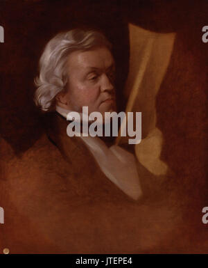 William Makepeace Thackeray by Samuel Laurence - Stock Photo