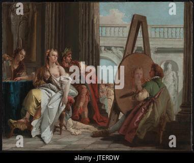 Giovanni Battista Tiepolo (Italian   Alexander the Great and Campaspe in the Studio of Apelles - Stock Photo
