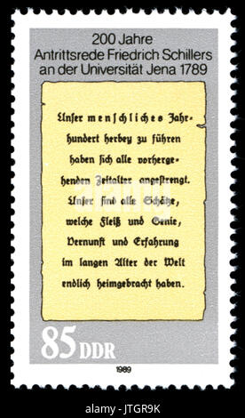 Stamps of Germany (DDR) 1989, MiNr 3255 - Stock Photo