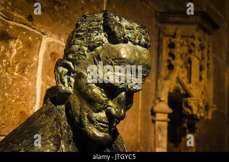 Statue inside Lichfield Cathedral, Staffordshire, England, UK - Stock Photo