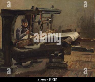 Vincent van Gogh   Weaver Facing Right (1884 Feb.) - Stock Photo