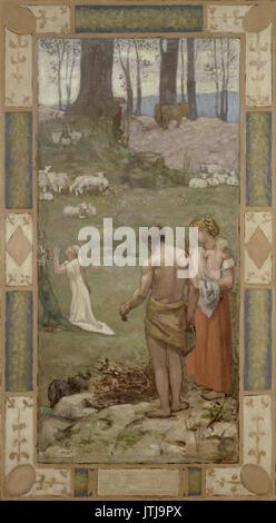 Pierre Puvis de Chavannes   Saint Genevieve as a child in prayer - Stock Photo