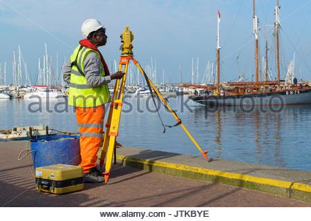 Surveyor, Brixham, Devon, England UK Europe - Stock Photo
