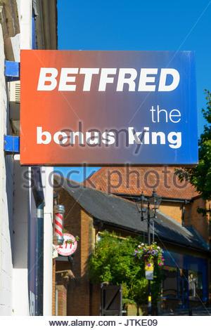 Betfred sign, Yeovil, Somerset, England, UK - Stock Photo