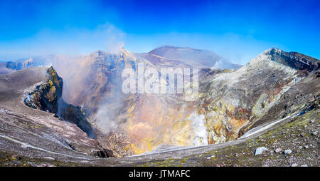 Mount Etna, Sicily -  Tallest active volcano of Europe 3329 m in Italy. - Stock Photo