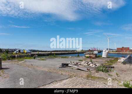 Bramley Moore Dock, Liverpool. Location of new Everton FC stadium which will be moving from their Goodison Park - Stock Photo