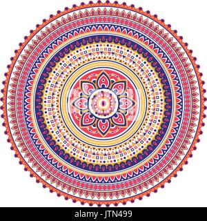 Geometrical Mandala. Vintage and traditional decorative elements. This mandala was drew really detailed way. It - Stock Photo