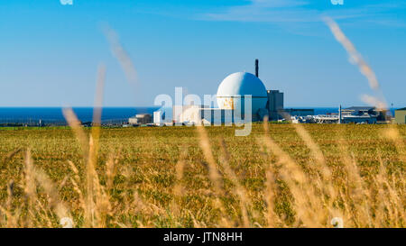 View of Dounreay nuclear power station in northern Scotland, now being decommissioned. - Stock Photo