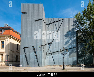 View of the Jewish Museum designed by Daniel Libeskind in Kreuzberg, Berlin, Germany - Stock Photo