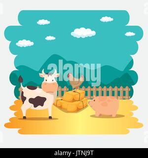 farm animal icon  - Stock Photo