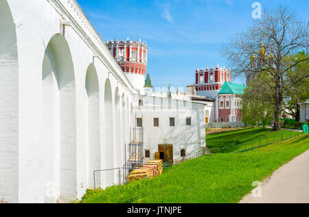 Novodevichy Convent is one of the most scenic monastery complex in Moscow, Russia - Stock Photo