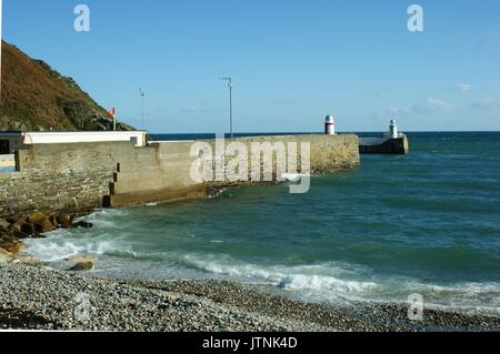 Laxey Harbour, Laxey, Isle of Man - Stock Photo