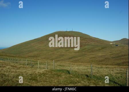 Snaefell mountain Isle of Man - Stock Photo