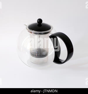 Vintage teapot designed by Jorgensen for BODUM, Made in Switzerland - Stock Photo