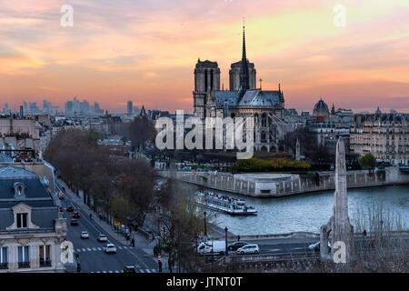 Notre Dame de Paris cathedral, Paris, France - Stock Photo