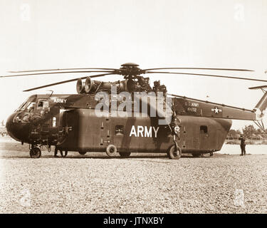 One of the unique pieces of equipment brought to Vietnam by the 1st Cavalry Division (Airmobile), U.S. Army, is - Stock Photo
