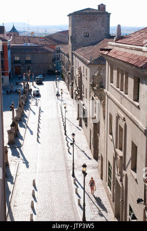 Cathedral Square, view from above. Avila, Spain. - Stock Photo