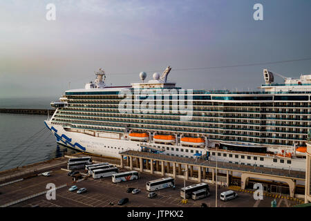 Majestic Princess, Princess Cruises - Naples, Italy - 12 May, 2017: Majestic Princess ship docked in Naples cruise - Stock Photo