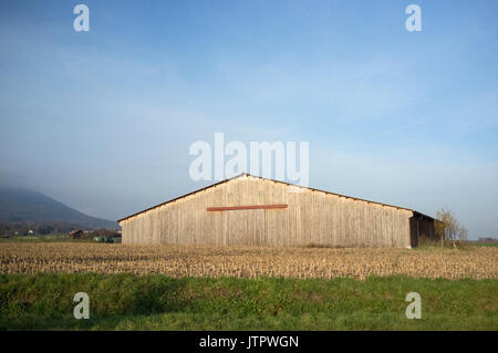 a barn in the french countryside - Stock Photo