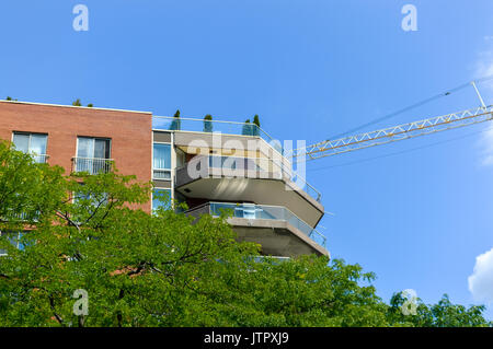 Modern condo buildings in downtown Montreal, Canada - Stock Photo