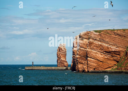 Lange Anna - the high sea stack on the island of Helgoland - Stock Photo