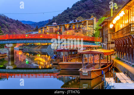 Uji, Kyoto Prefecture, Japan on the Ujigawa River - Stock Photo