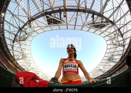 London, UK. 10th Aug, 2017. . IAAF world athletics championships. London Olympic stadium. Queen Elizabeth Olympic - Stock Photo
