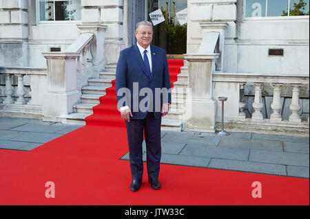 London, UK. 10th August, 2017. Al Gore attends as his documentary marks opening of film 4 Summer Film festival. - Stock Photo