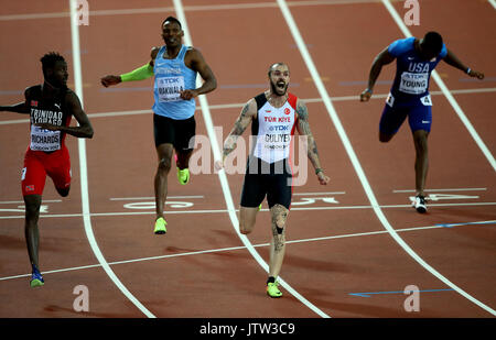 London, UK. 10th August, 2017. Ramil Guliyev Wins 200 Metres 200 Metres Final World Athletics Championships 2017 - Stock Photo