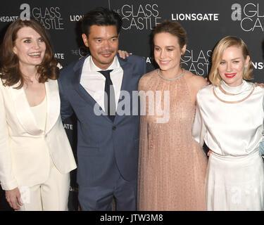 New York, NY, USA. 09th Aug, 2017. Jeannette Walls, Dustin Daniel Cretton, Brie Larson and Naomi Watts attends 'The - Stock Photo