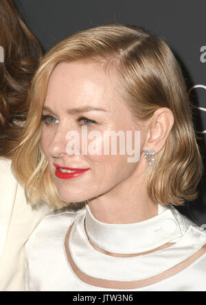 New York, NY, USA. 09th Aug, 2017. Naomi Watts attends 'The Glass Castle' New York Screening at SVA Theatre on August - Stock Photo