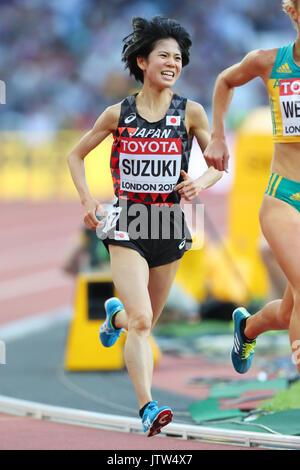 London, UK. 10th Aug, 2017. Ayuko Suzuki (JPN) Athletics : IAAF World Championships London 2017 Women's 5000m Heat - Stock Photo