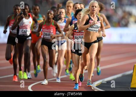 London, UK.  10 August 2017. Women's 5000m heats at the London Stadium, on day seven of The IAAF World Championships - Stock Photo